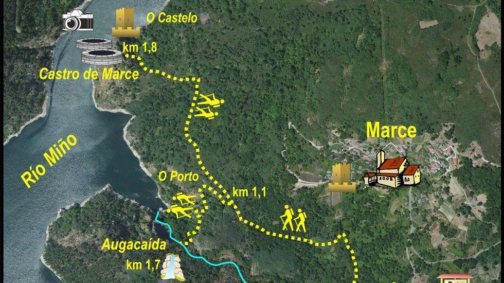 Resultado de imagen de RUTA DE AUGACAÍDA-CASTRO DE MARCE