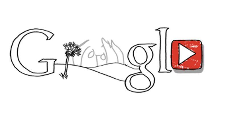 John Lennon imaginaría con este doodle el logo de Google