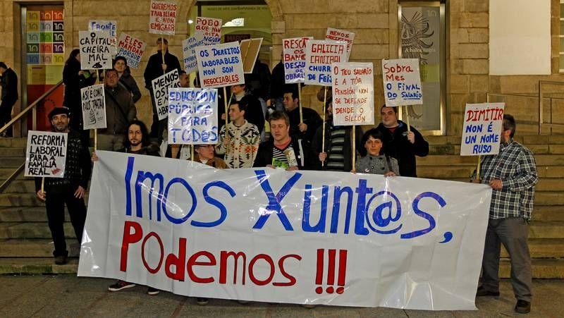 El 15 M se manifiesta en Vigo contra la corrupción