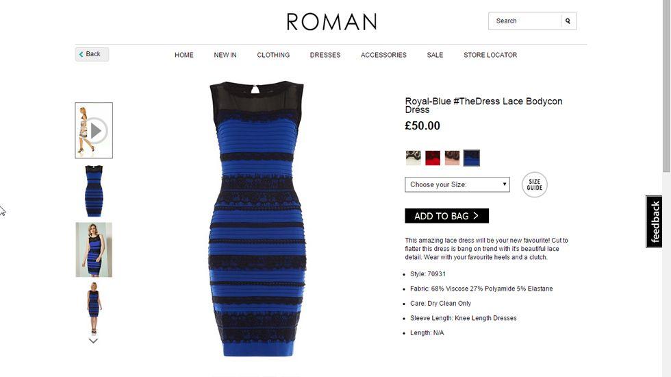 Porque se ve el vestido azul o dorado