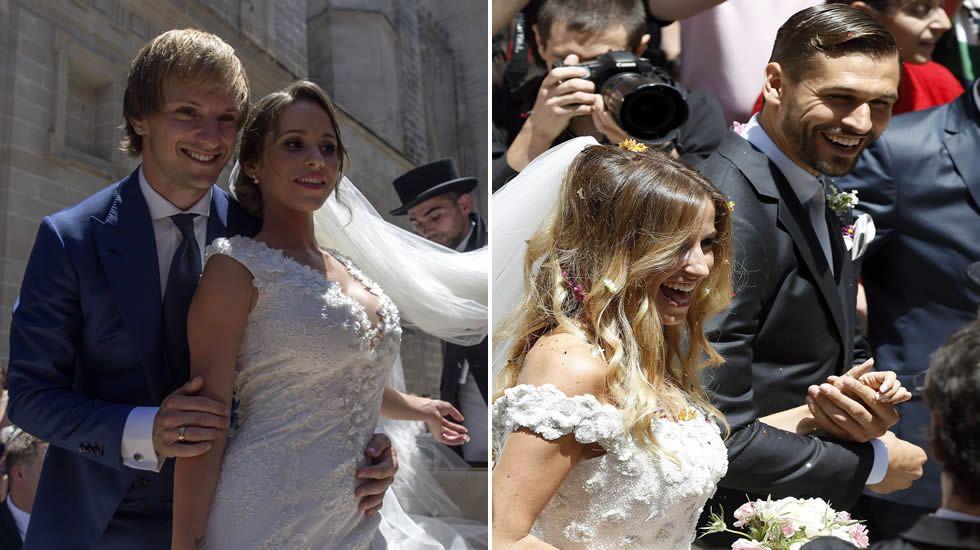 los futbolistas se van de boda