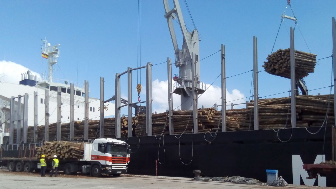 El Puerto de Ferrol registra la mayor operación de carga de pino a ...