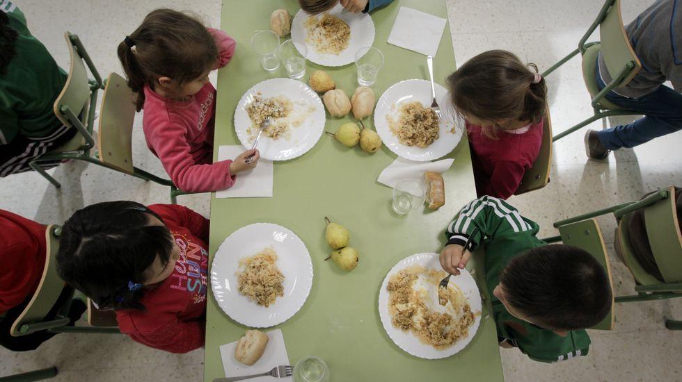 Los comedores escolares reducen la presencia de arroz en los menús