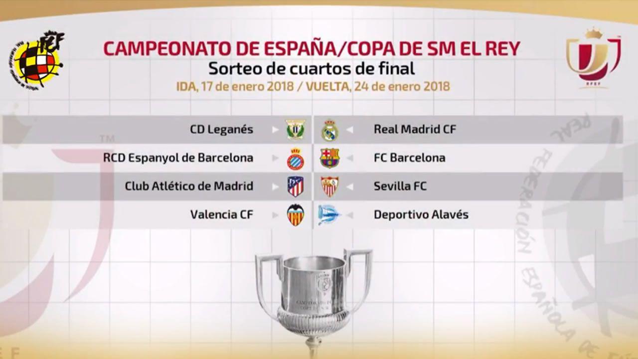 Leganés - Real Madrid y Espanyol - Barça, en cuartos de la Copa del Rey