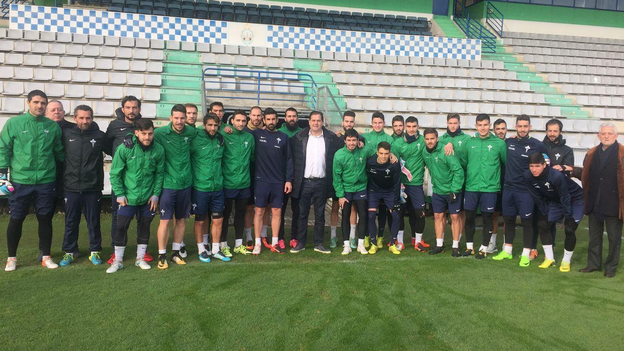 Ignacio Rivera visita a la plantilla del Racing de Ferrol