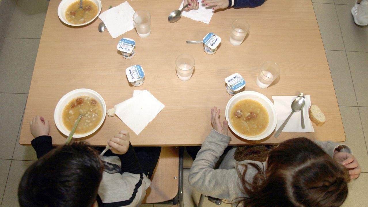 La cocina de media docena de colegios funciona bajo mínimos