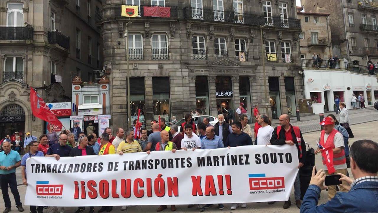 La plantilla de Transportes Souto acumula ya 4 meses sin cobrar