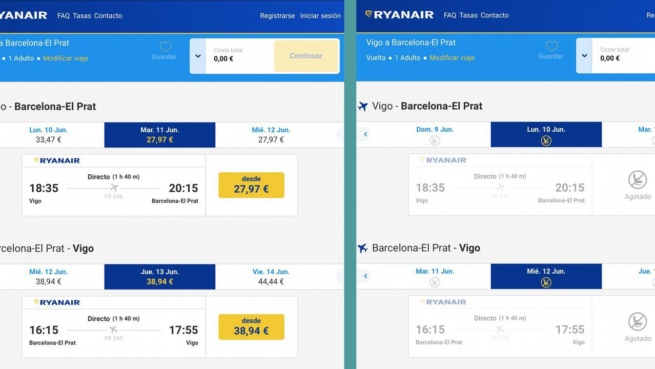 4b1f8afc8d0 Ryanair inicia la venta de vuelos para el 2019 y horas después solo deja  Barcelona