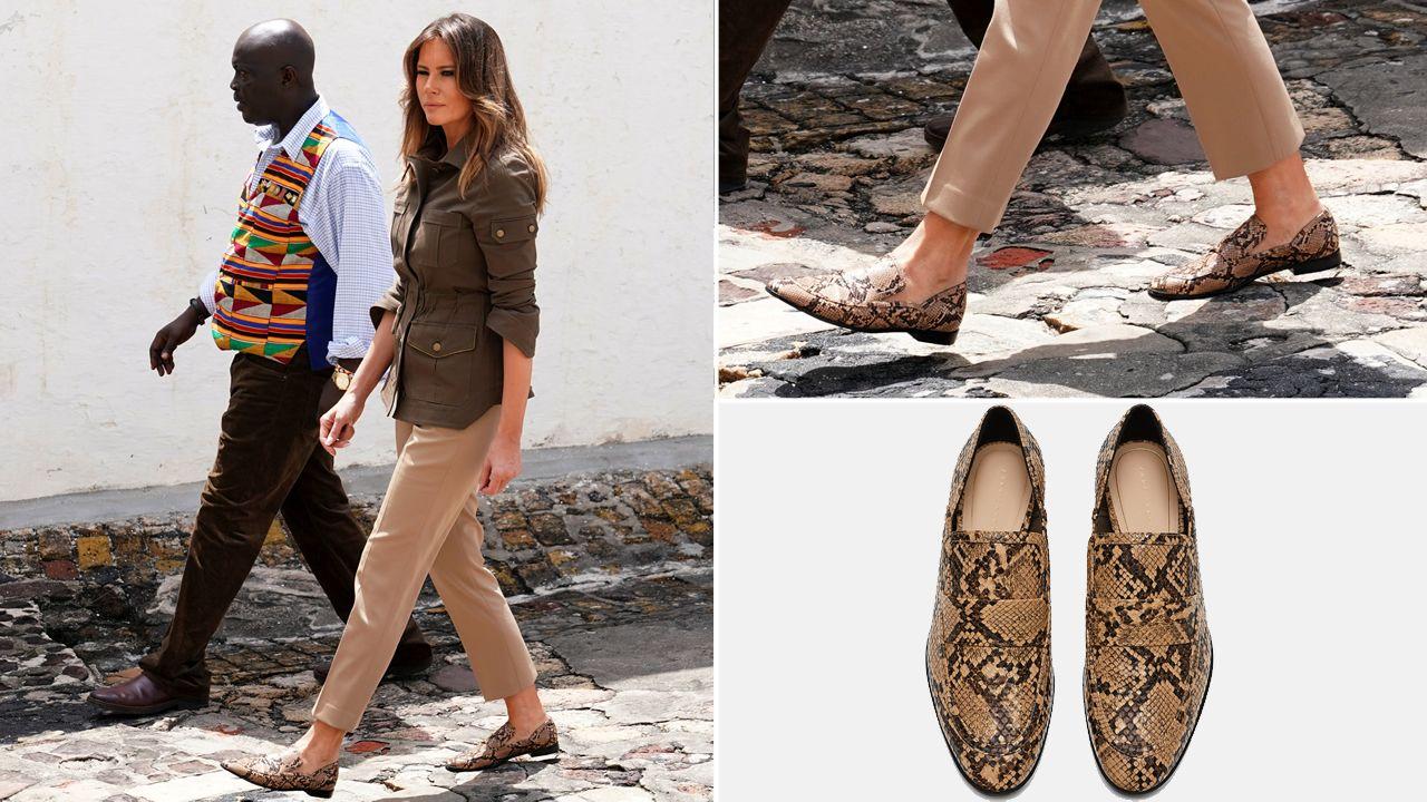 Melania Zara Por Para De Dos Elige Viaje Zapatos Trump Pares Su rw0Yrq6