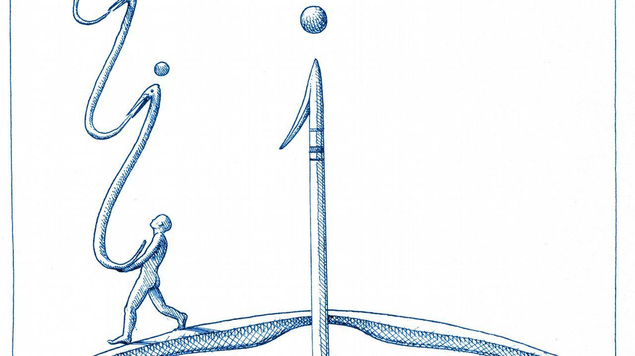 <span lang= gl >Que foi do soño de Castelao?</span>.Anxo Fariña adoita a escribir e ilustrar as historias da súa autoría, como Os Megatoxos