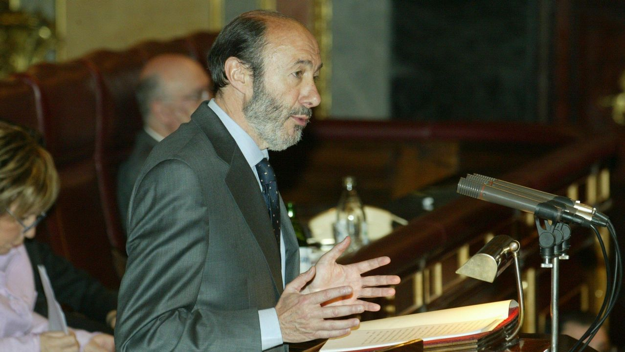 Como portavoz socialista durante el debate de investidura de Zapatero en el 2004