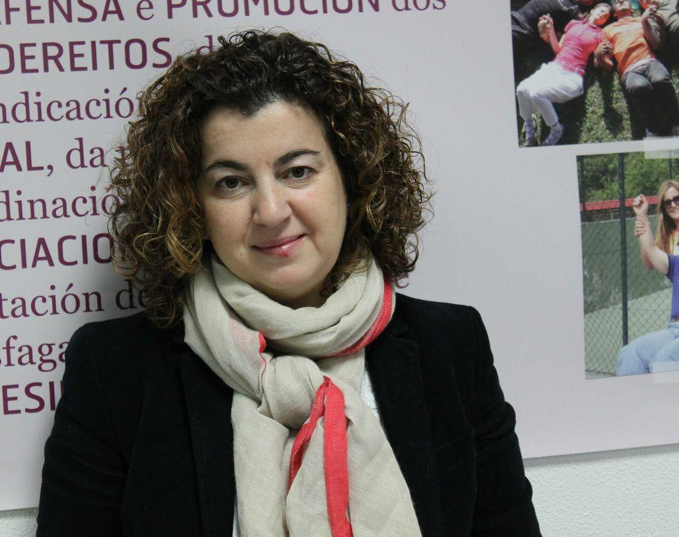 .Mari Carmen Insua trabaja para facilitar la reinserción laboral.