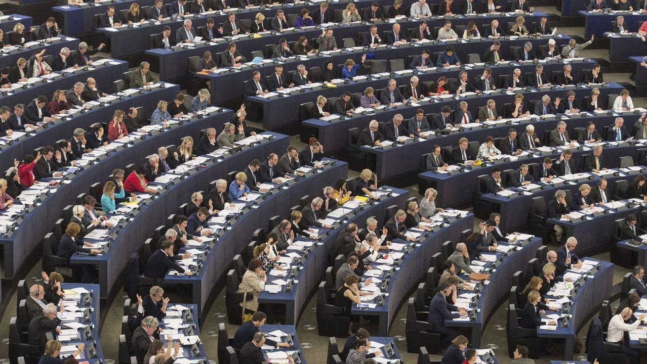 El negociador jefe de la Unión Europea para el «brexit», Michel Barnier, en una rueda de prensa hoy