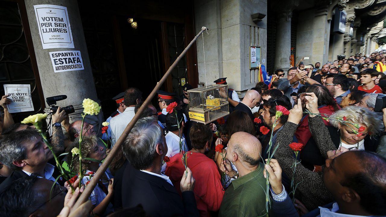 Llegada de Oriol Junqueras al Palau de la Generalitat.