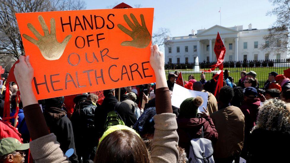 Protestas contra el intento republicano de desmontar el sistema de salud de Obama