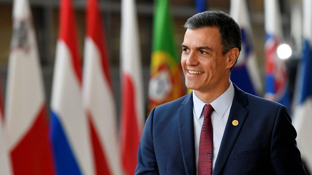 Pedro Sanchez, ayer, a su llegada al Consejo Europeo en Bruselas