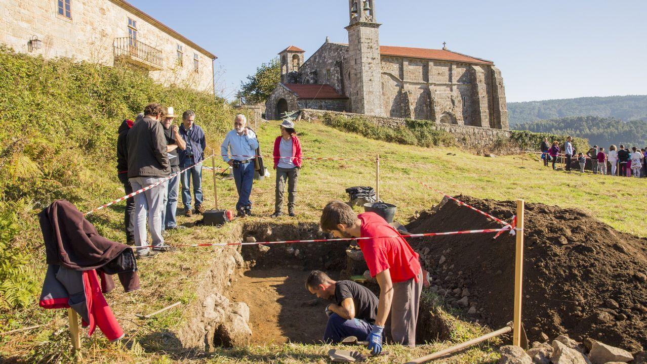 La excavación ha sacado a la luz muros de una villa romana y tumbas de los siglos IV y V