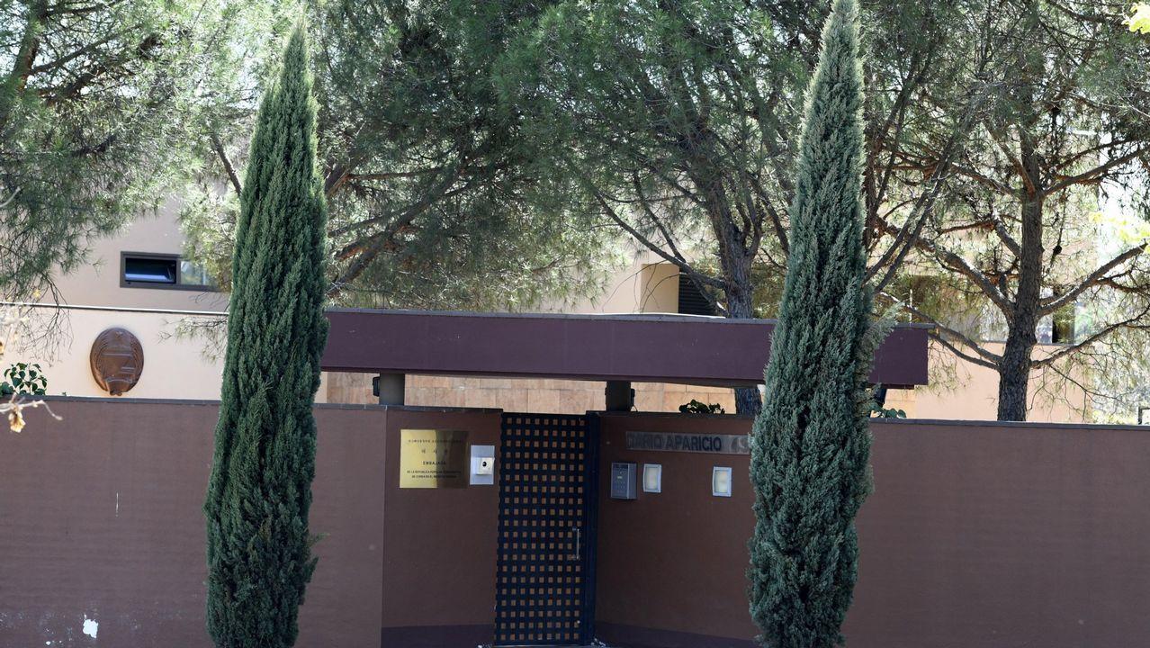 Vista exterior de la embajada de Corea del Norte en Madrid