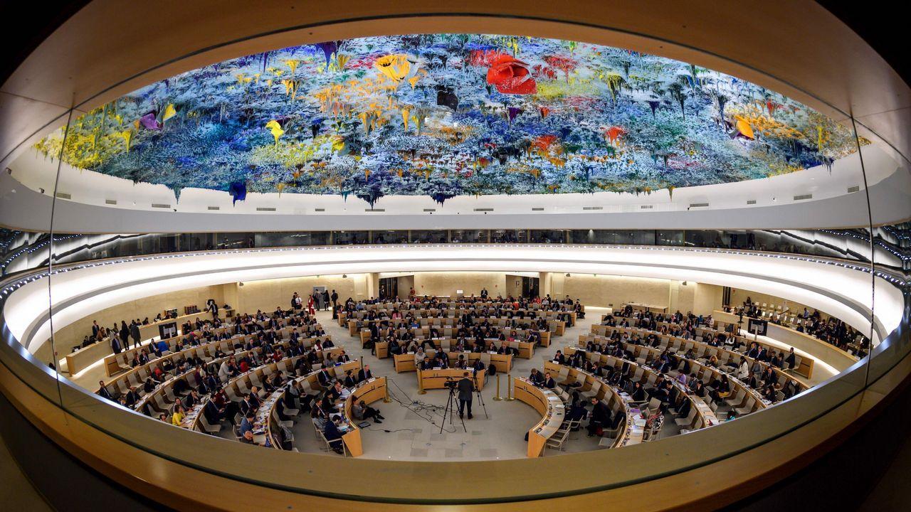 Vista General del consejo de la ONU durante la comisión  sobre Siria