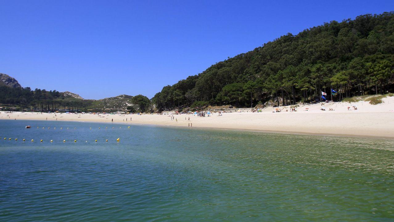 .Playa de Rodas en las Illas Cíes