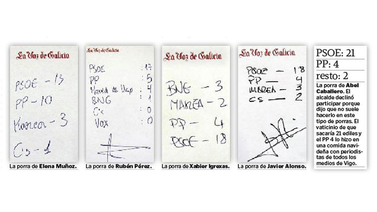 Pleno de la investidura en Vigo.Xabier Pérez Igrexas (BNG) y Rubén Pérez (Marea)