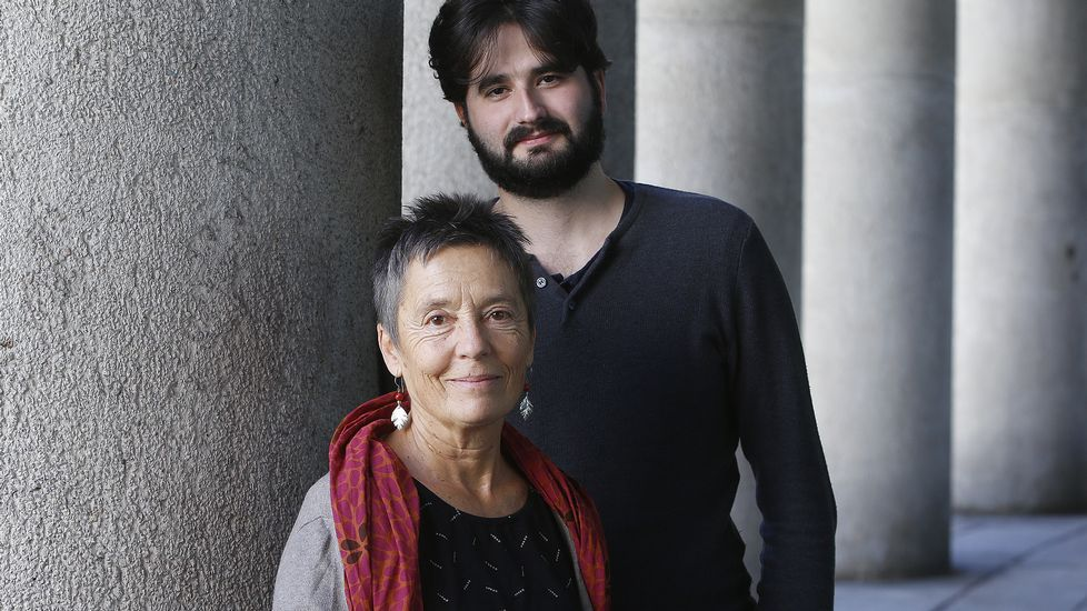 Sylvia Beach y Joyce, en la librería parisina Shakespeare & Co.