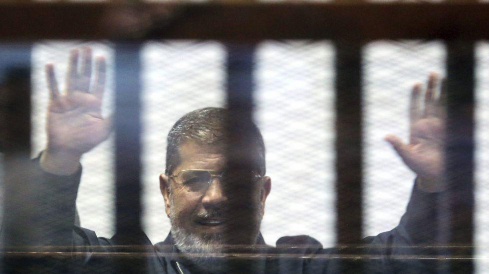 Gran ceremonia para inaugurar el nuevo canal de Suez.El depuesto presidente egipcio Mohamed Mursi