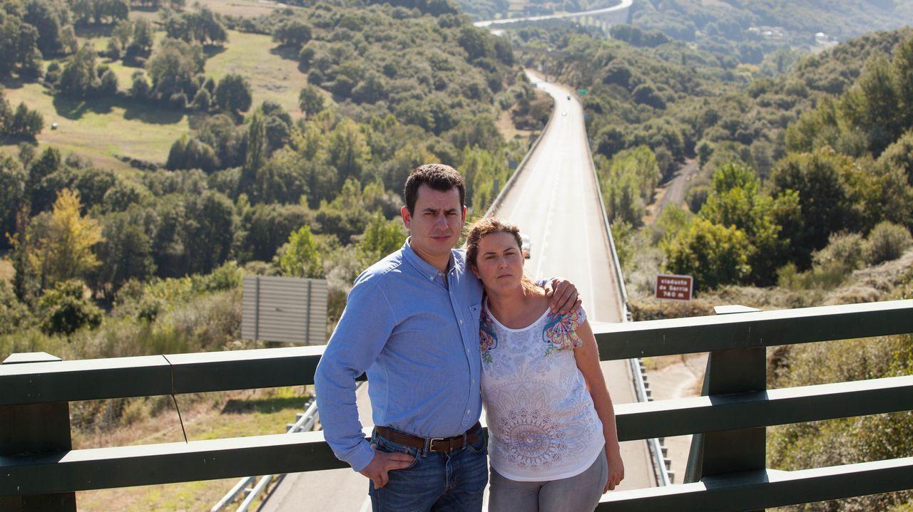 Diego y Cristina, en el corredor de Monforte, donde sufrieron un grave accidente en el año 2010