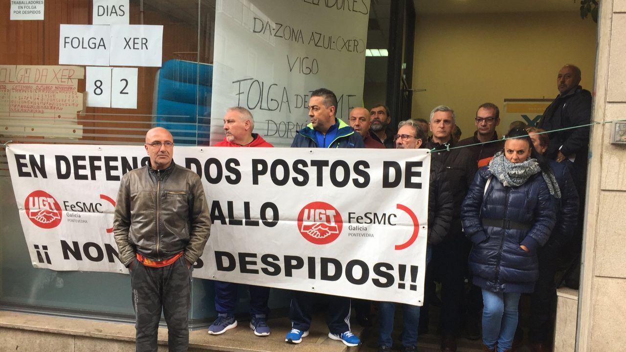 Manifestación de los trabajadores de supermercados.Arcelor Mittal