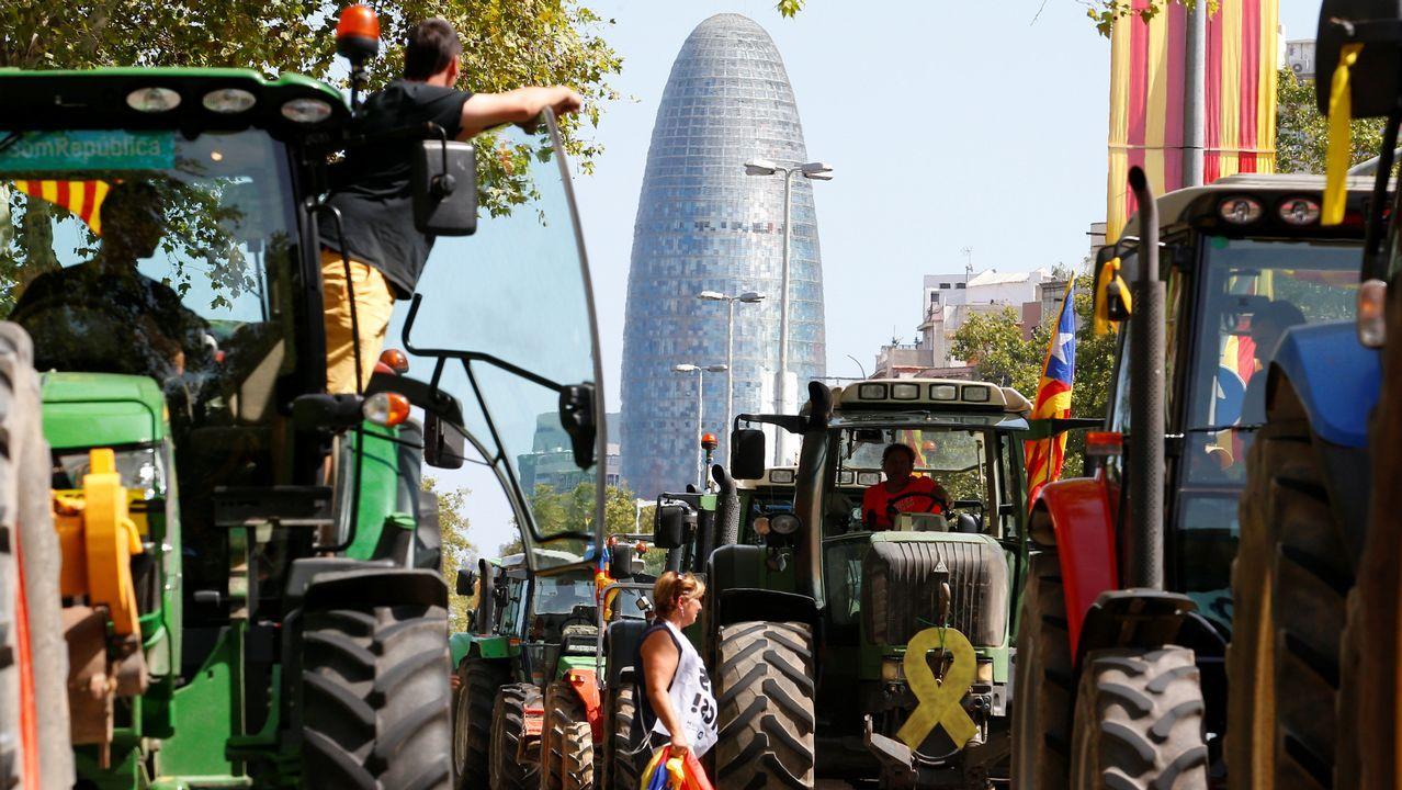 .Celebración de la Diada en las calles de Barcelona