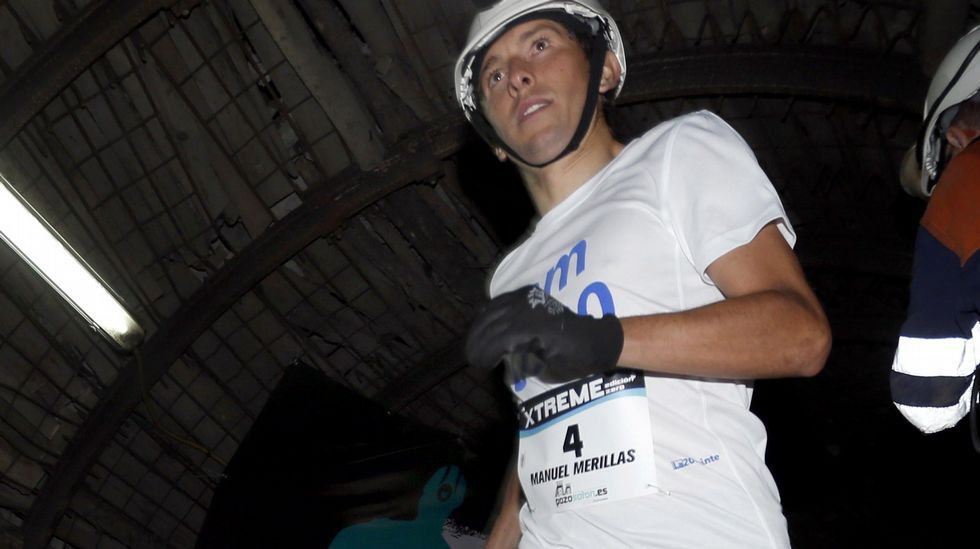 El excampeón de España de carreras por montaña Manuel Merillas ha ganado hoy la edición  Zero  de la Xtreme Trail de El Pozo Sotón de Hunosa, una contrareloj disputada sobre un duro recorrido en el interior de una mina a más de 500 metros de profundidad en la edición  zero  de la Xtreme Trail de El Pozo Sotón, de Hunosa