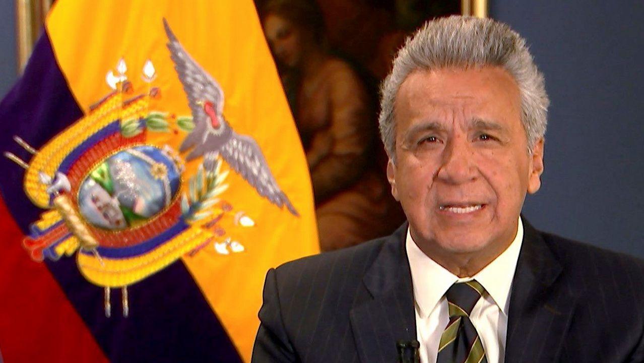 Captura del vídeo de la grabación de Lenín Moreno