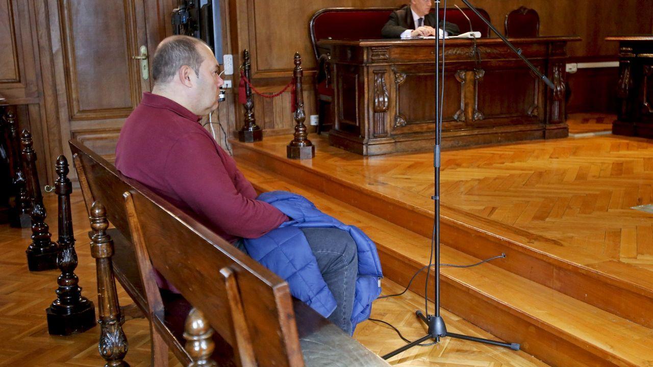Las plazas asturianas, a reventar en el 8-M.Vista del Tribunal Supremo celebrada en el 2015 para tratar los recursos contra la sentencia del Prestige
