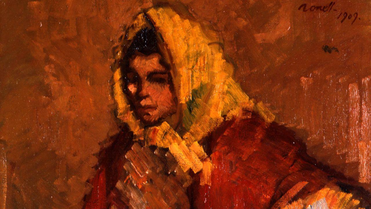 Isidro Nonell. Detalle de «Figura femenina» (1909)