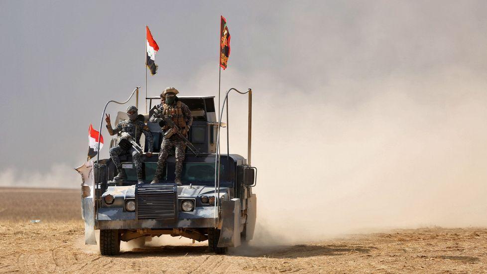 Combatientes de Estado Islámico en Mosul