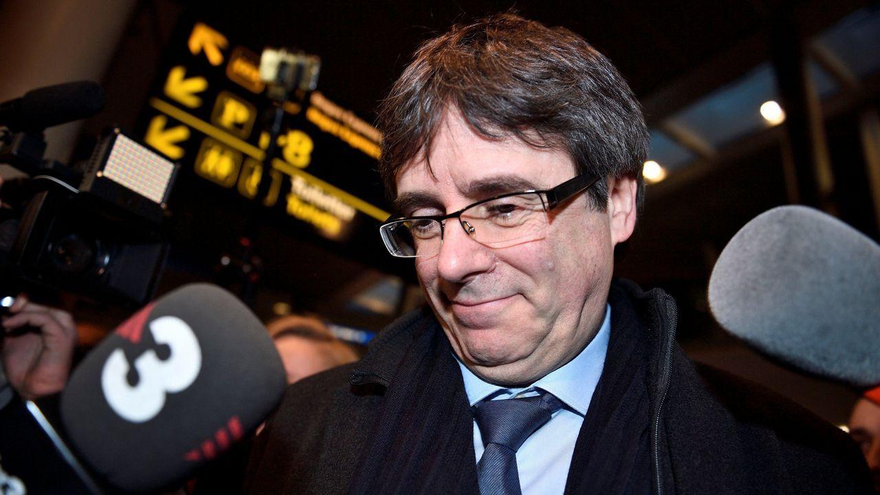 En directo, pleno de investidurade Jordi Turull.Los diputados de JxCat Jordi Turull (derecha) y Josep Rull, el pasado 12 de marzo