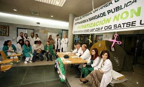 El personal del Hospital ha organizado ya varios actos en contra de los recortes.