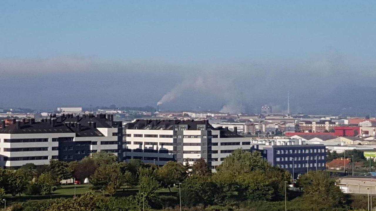 Boina de contaminación en Gijón.Boina de contaminación, este verano, en Gijón
