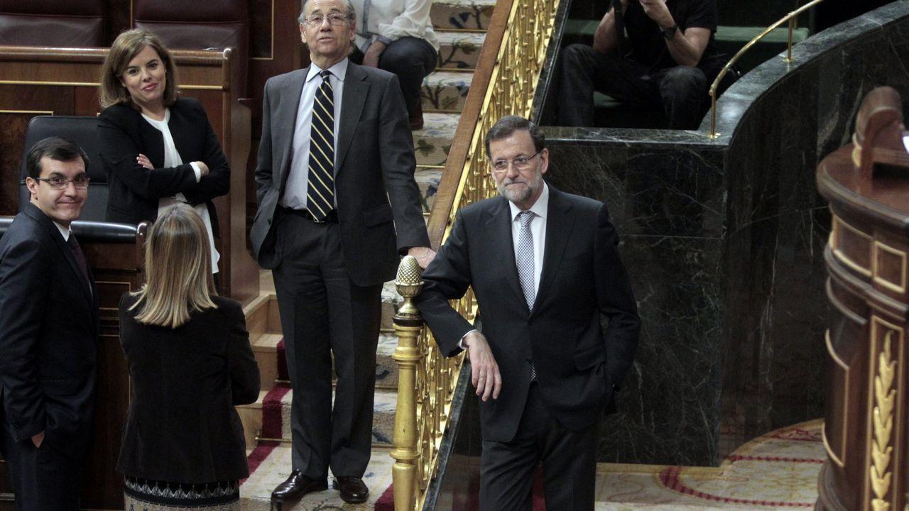 Rajoy, durante el debate sobre el estado de la nación celebrado en el 2015