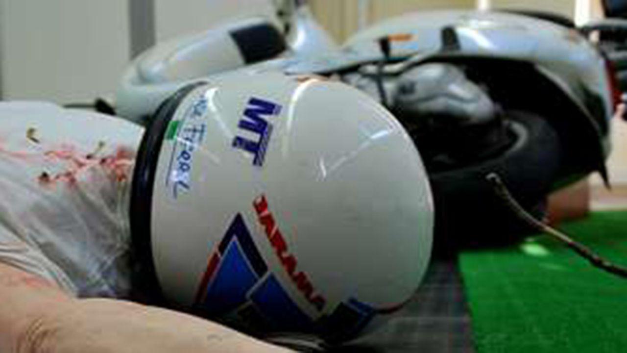 | EFE.Recreación de un accidente de moto