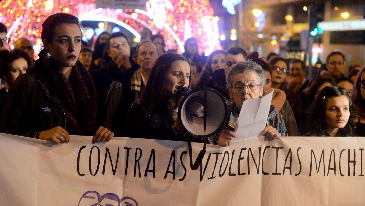 Concentración en Ourense contra la Violencia machista.