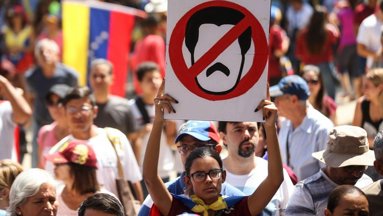 Venezuela se echa a la calle para reclamar elecciones libres.Calle de La Merced