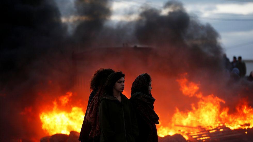 Disturbios en la evacuación del asentamiento israelí de Amoná