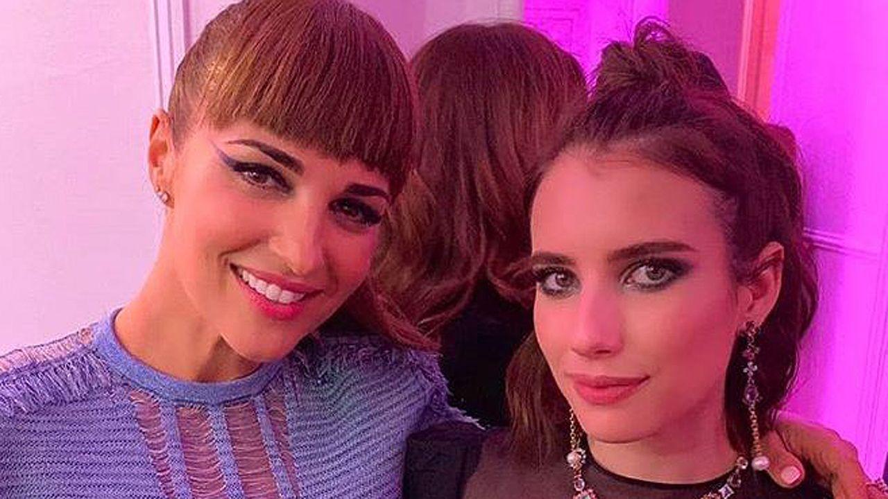 Paula Echevarría y Emma Roberts en la fiesta organizada por la revista «Elle» y Tous
