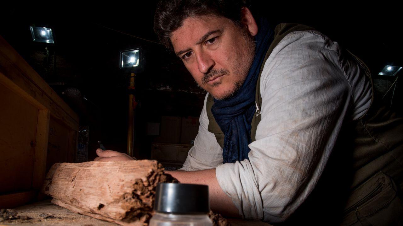 .Antonio Morales, en una fotografía tomada durante una de sus estancias de trabajo en Deir el-Bahari, en Luxor