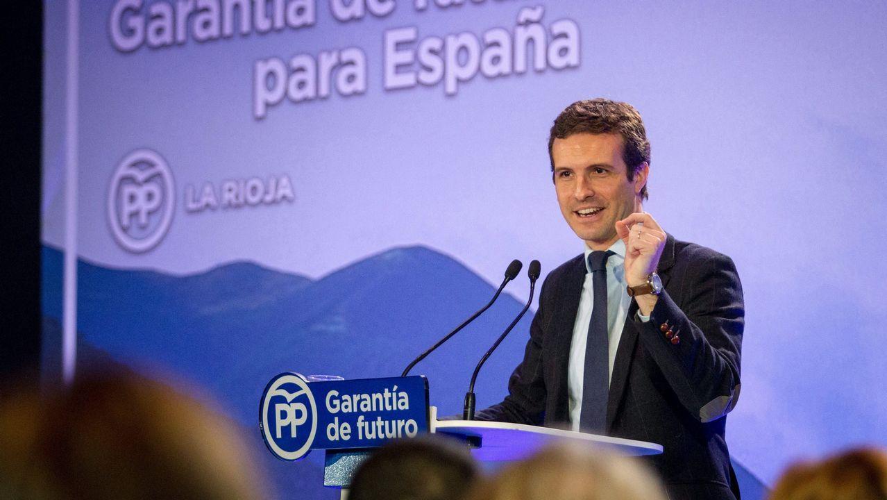 Un año marcado por la moción de censura y la irrupción de la extrema derecha.Casado asegura que el PP es la única fuerza moderada para defender la unidad de España