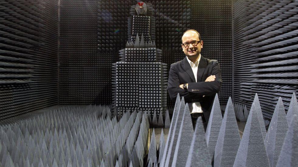 Contaminación en Gijón.Fernando Aguado, director de los proyectos de satélites de la Universidad de Vigo