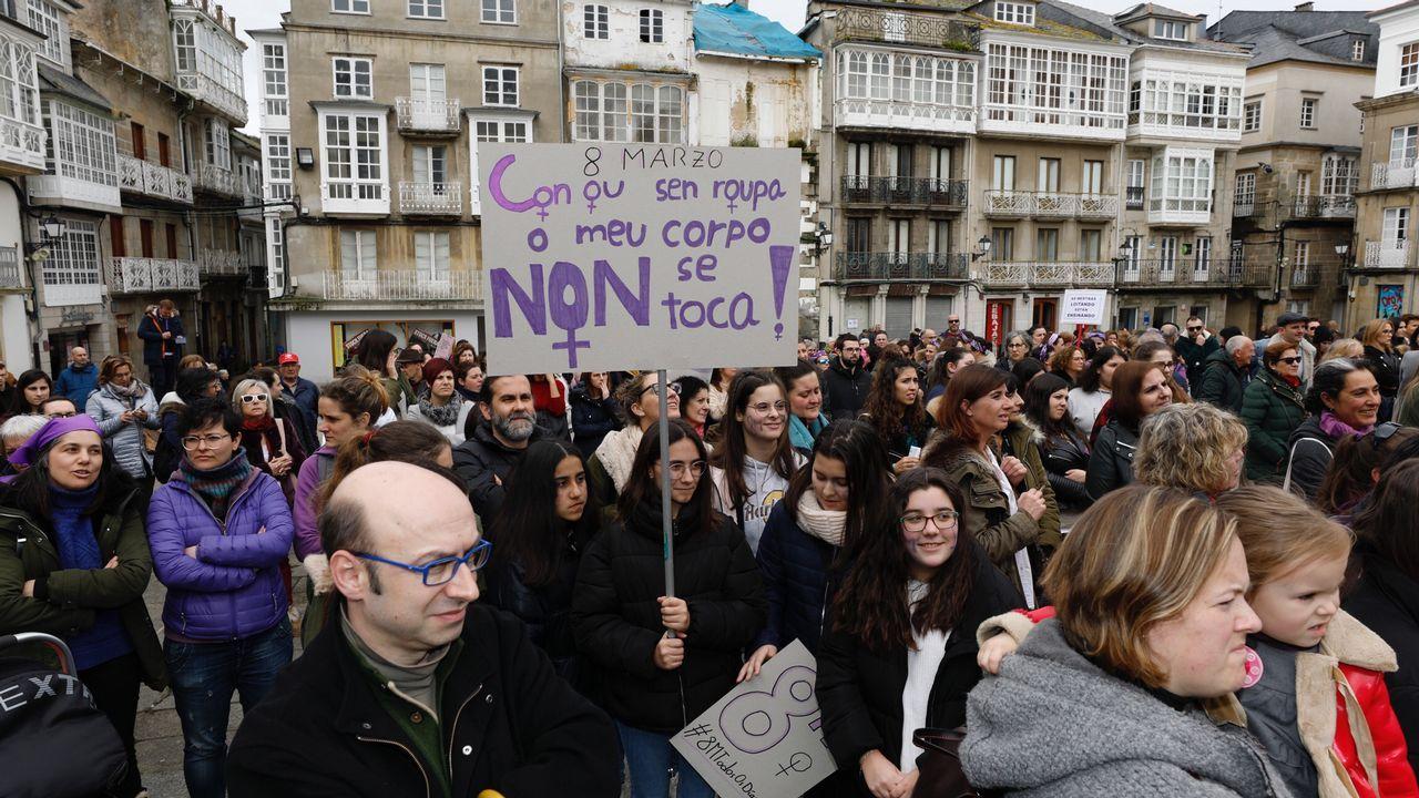 Manifestación por el 8M en Viveiro