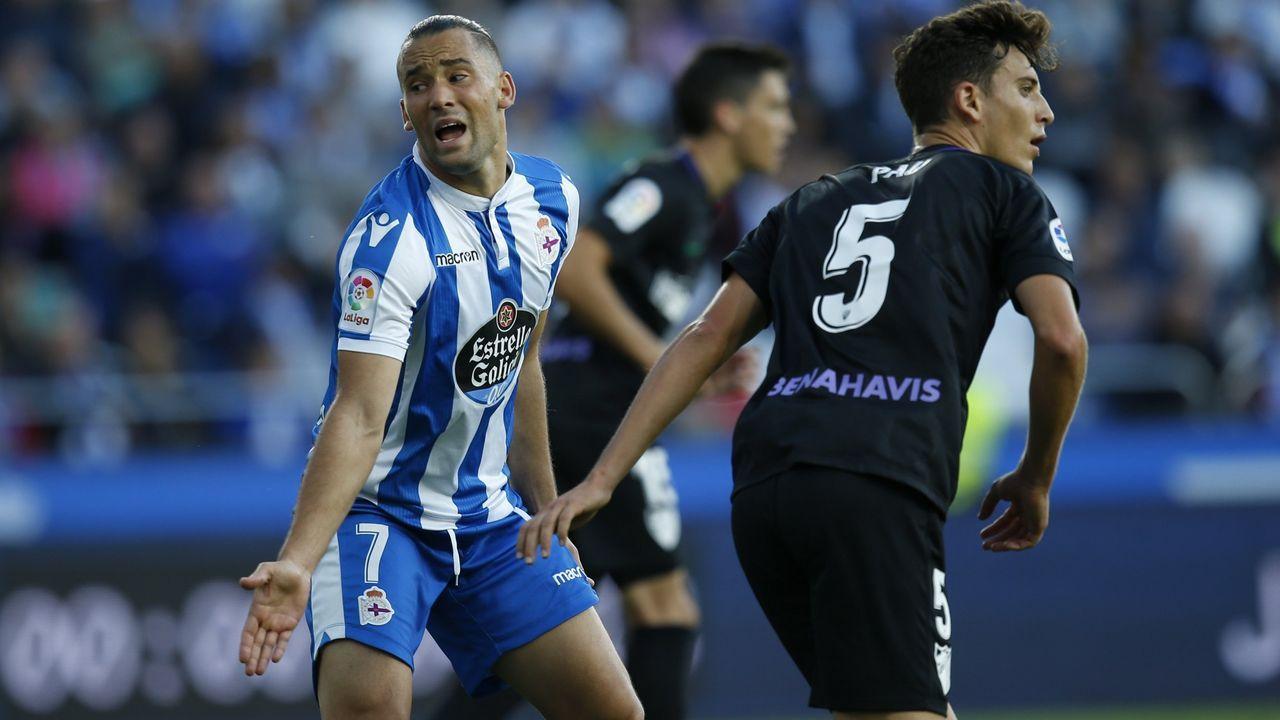 Deportivo - Albacete, en imágenes.Quique González ha marcado un gol en las ocho últimas jornadas