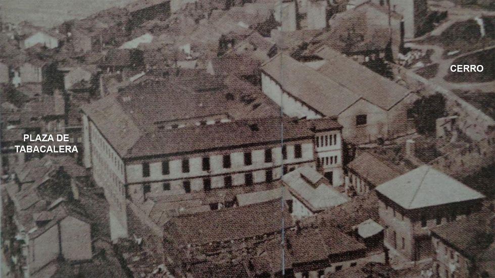 Fotografía del complejo de Tabacalera en Gijón de 1930 incluida en el informe de Plataforma Tabacalera